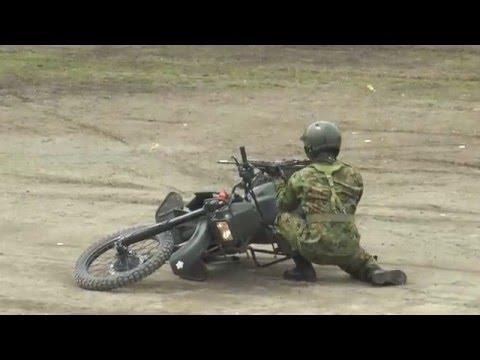 陸上自衛隊 第1偵察隊によるバイクアトラクション 訓練展示 陸上自衛隊第1師団創立54周年・ 練馬駐屯地創立65周年記念行事