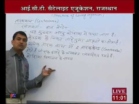 """Rajasthan ICT Satellite Education Science Class-9th""""Structure living organism""""2Fab 2017-18 Lect-58"""