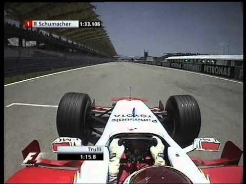 F1 Malaysia 2005 Qualifying - Jarno Trulli Lap