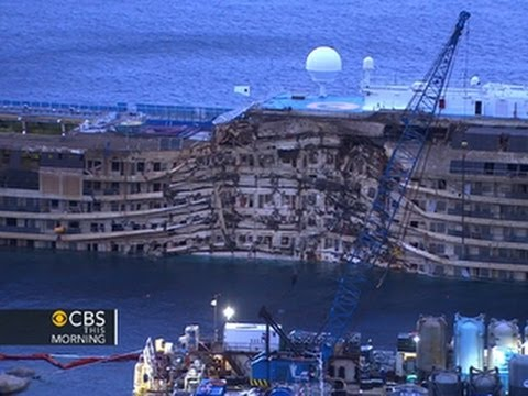 Costa Concordia Now Upright Youtube