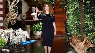 Christina Hendricks Is a Groomsmaid in Beth Behrs' Wedding