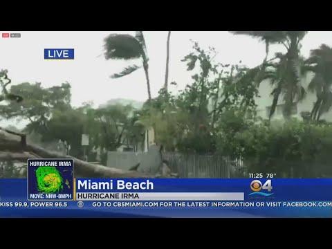 Hurricane Irma Moves Through Miami Beach