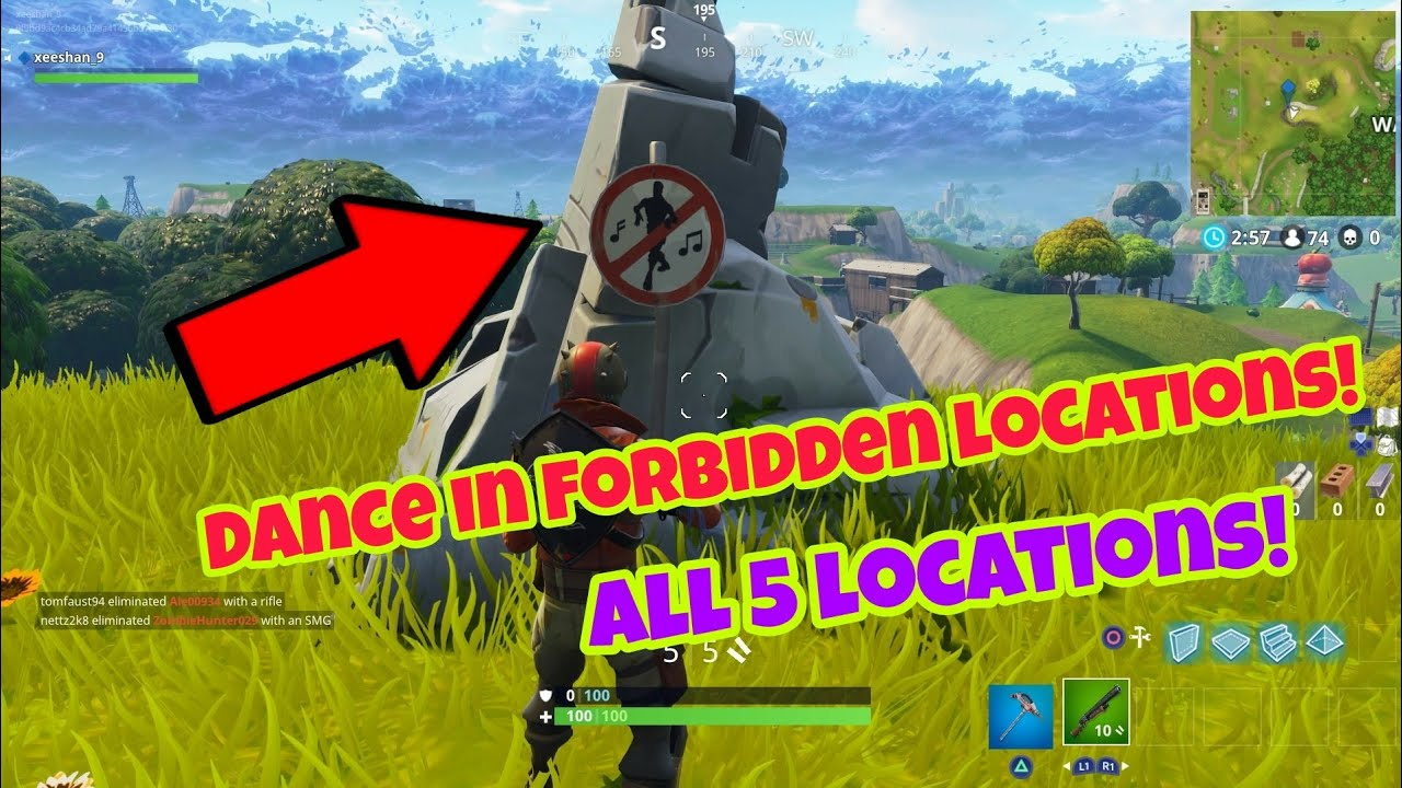 Where to dance in fortnite forbidden locations