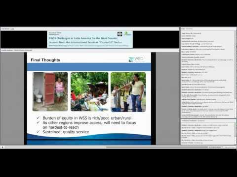 Webinar #1: Rural Water Supply and Sanitation Challenges in Latin America for the Next Decade