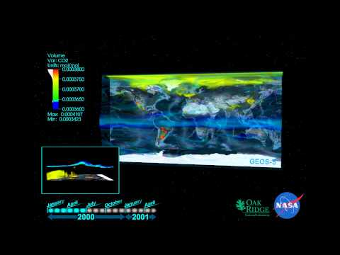 NASA GEOS-5 : Evolving Atmospheric CO2 Concentration