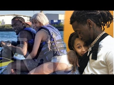 Cardi B is caught loving on her husband Offset in Puerto Rico - back so soon? or publicity stunt Mp3