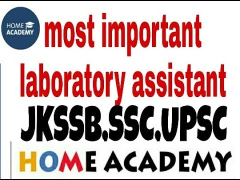 Basics Of Laboratory Science Most Important For Jkssb  ,verkha Lab ,by Home Academ