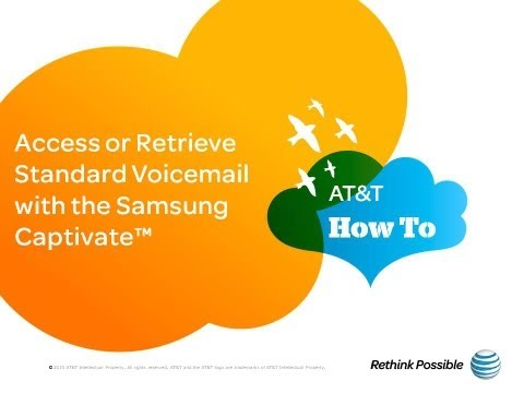 Access or Retrieve Standard Voicemail with the Samsung Captivate™ Glide: AT&T How To Video Series