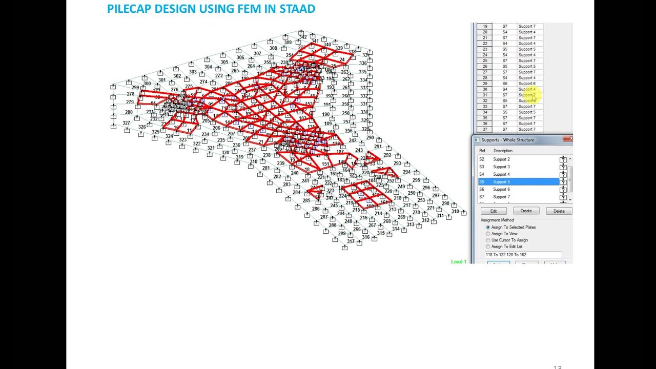 Pilecap design Using FEM in STAAD