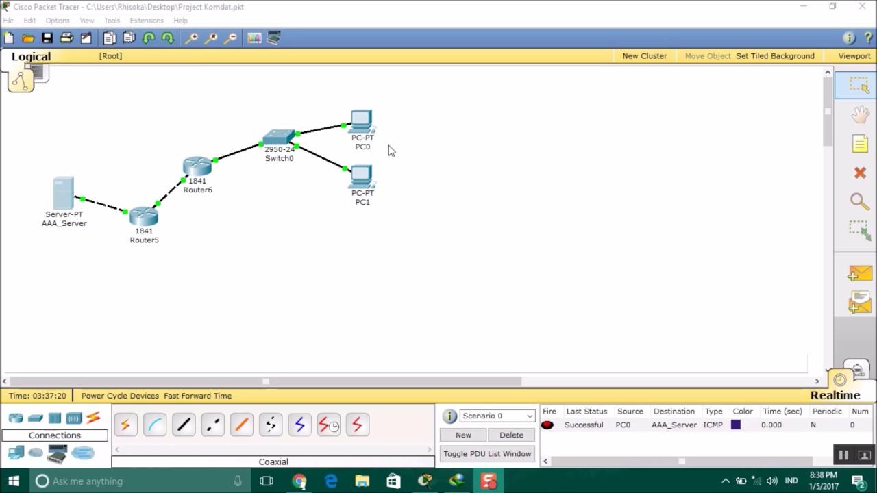 Cisco packet tracer vpn