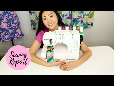 COVERSTITCH MACHINE | Janome CoverPro 1000CPX from Pink Castle Fabrics | SEWING REPORT