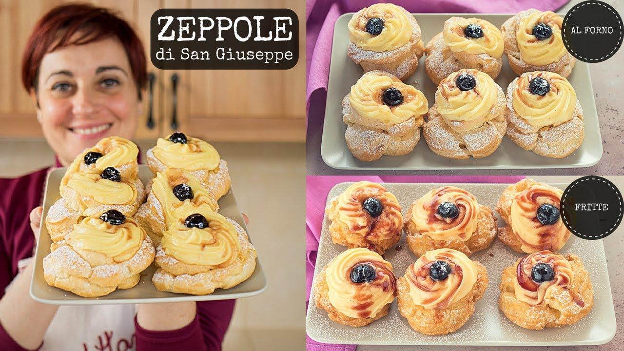 Ricetta Zeppole A Forno.Zeppole Di San Giuseppe Al Forno Fritte Ricetta Facile Pasta Choux Fatto In Casa Da Benedetta Youtube
