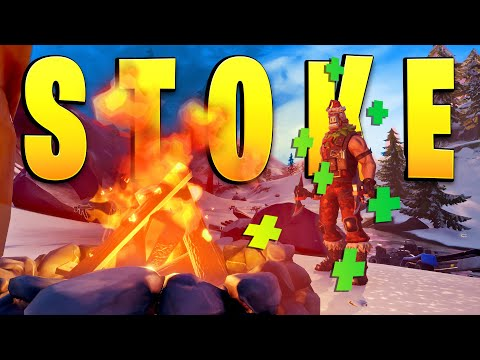 How To Stoke A Campfire (Fortnite Winterfest Challenge - Campfire Map Locations)