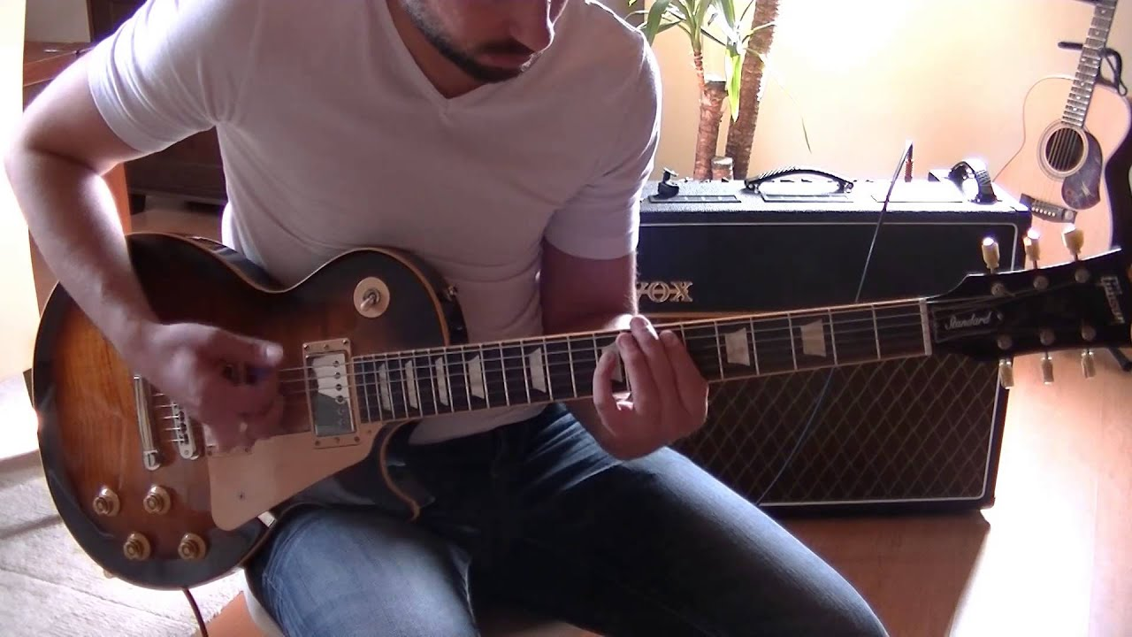 gibson les paul straight into the and vox ac 30 youtube