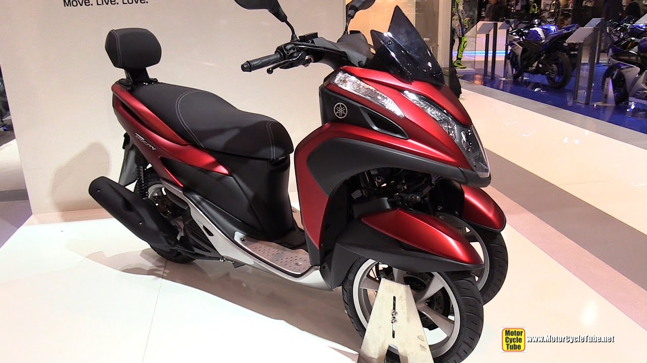 scooter yamaha wheel motorcycle tricity 125