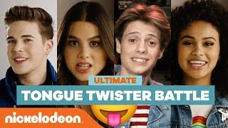 Ultimate Tongue Twister Battle w/ Kira Kosarin, Jace Norman & More! 😝| #NickStarsIRL