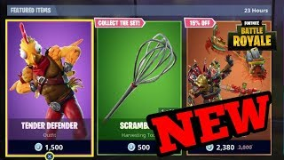 NEW TENDER DEFENDER SKIN + SCRAMBLER PICKAXE + FLAPPY FLYER GLIDER (Fortnite Battle Royale)