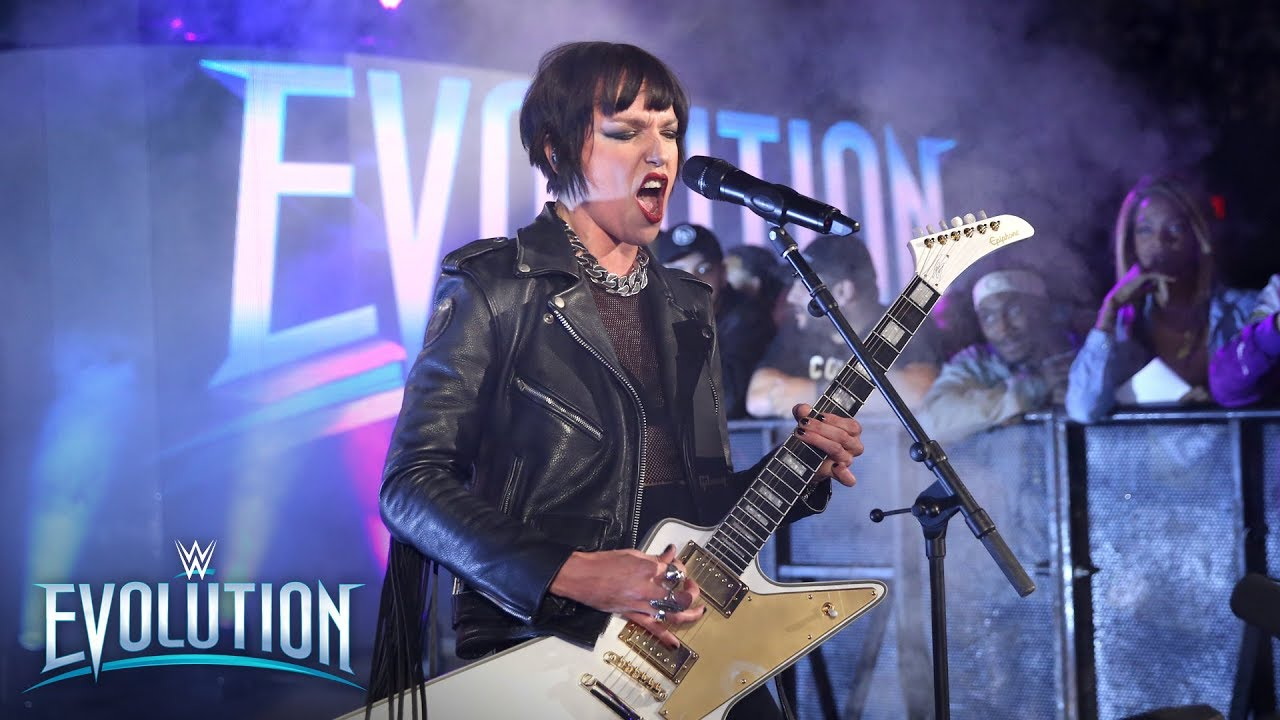 Lzzy Hale & Nita Strauss deliver an aural assault to open historic event: WWE Evolution 2018