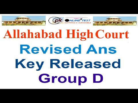 Allahabad High Court Revised Answer Key Released Group D