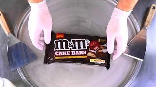 Ice Cream Rolls | delicious rolled m&m´s Ice Cream with Chocolate Cake Bars | mms fried Ice Cream