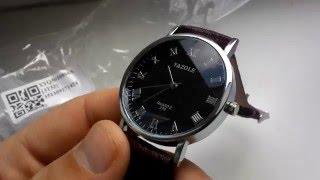 Обзор  Наручные часы YAZOLE 278 посылка из Китая