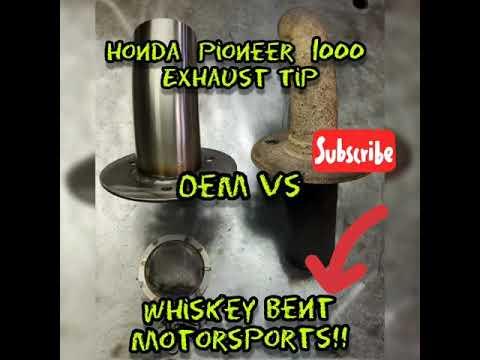 Honda Pioneer 1000 700 exhaust tip upgrade