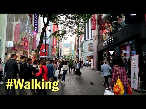 Myeong-dong Main Street(명동), Seoul Top 10 Attractions : Walking in Seoul, South Korea