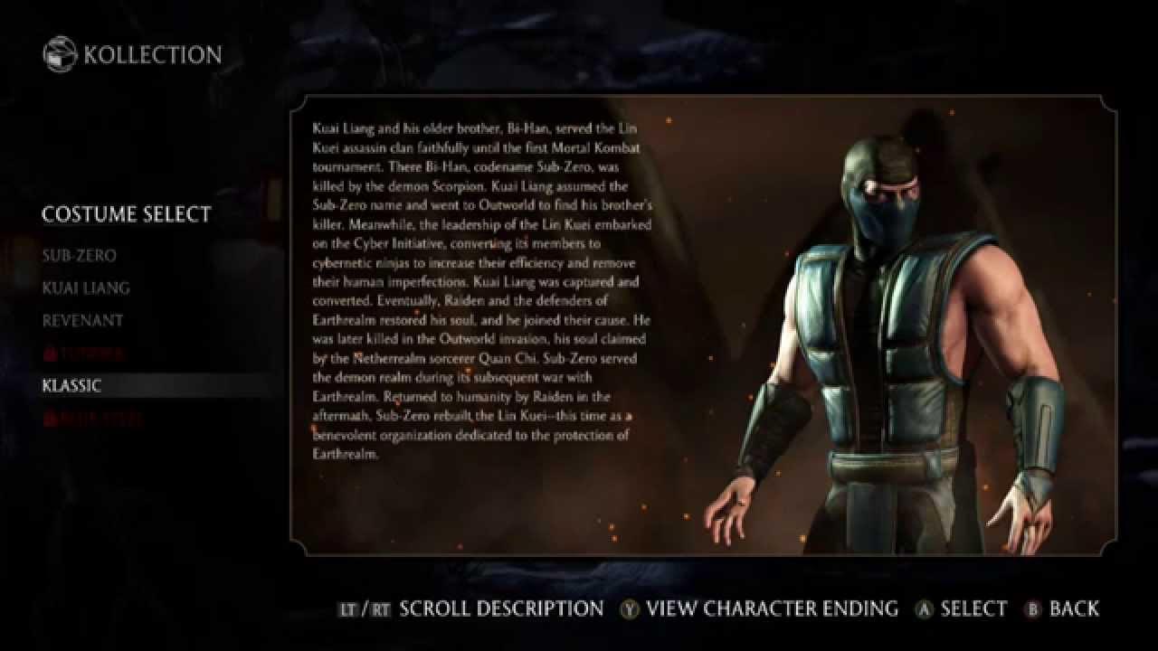 Mortal Kombat X Costume Skins : How to Unlock Them   part ...