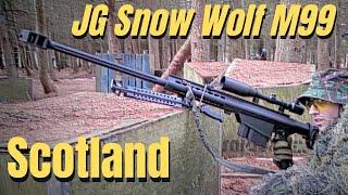 Airsoft War Sniper Action JG Bar 10, JG Snow Wolf Barrett Scotland