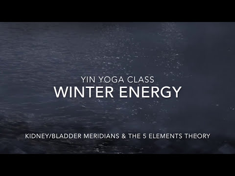 60 min Yin Yoga class Winter Energy, Kidney and Bladder Meridian with Nathalie Dubreu