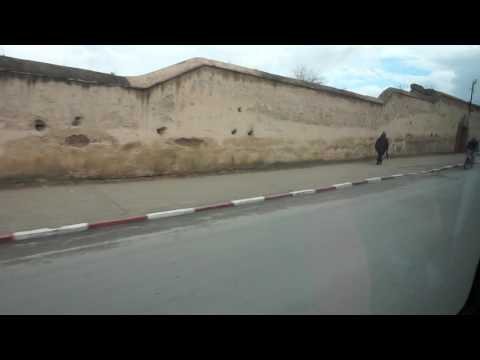 driving portion of our Meknes guided tour in Morocco (January 23rd, 2017)