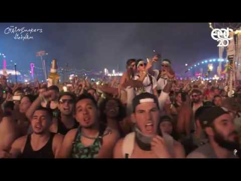 The Chainsmokers - Dont Let Me Down vs Yellow - Coldplay EDC LAS VEGAS 2016