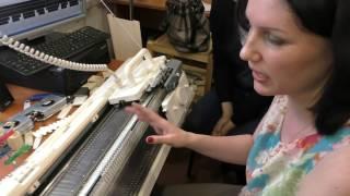Жемчужная и английская резинка на вязальной машине Сильвер
