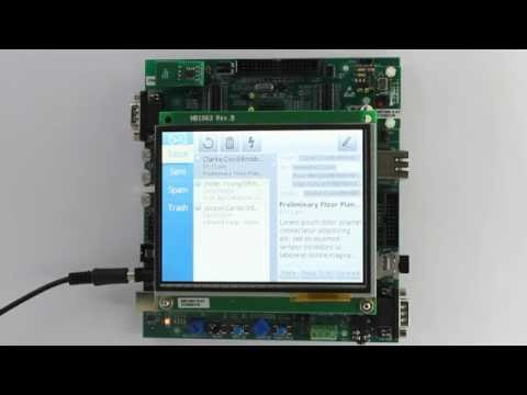 Email Client Java app running on a STM32F439 board