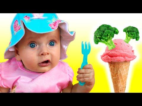 Do You Like Broccoli Ice Cream Song - Nursery Rhymes by Maya and Mary