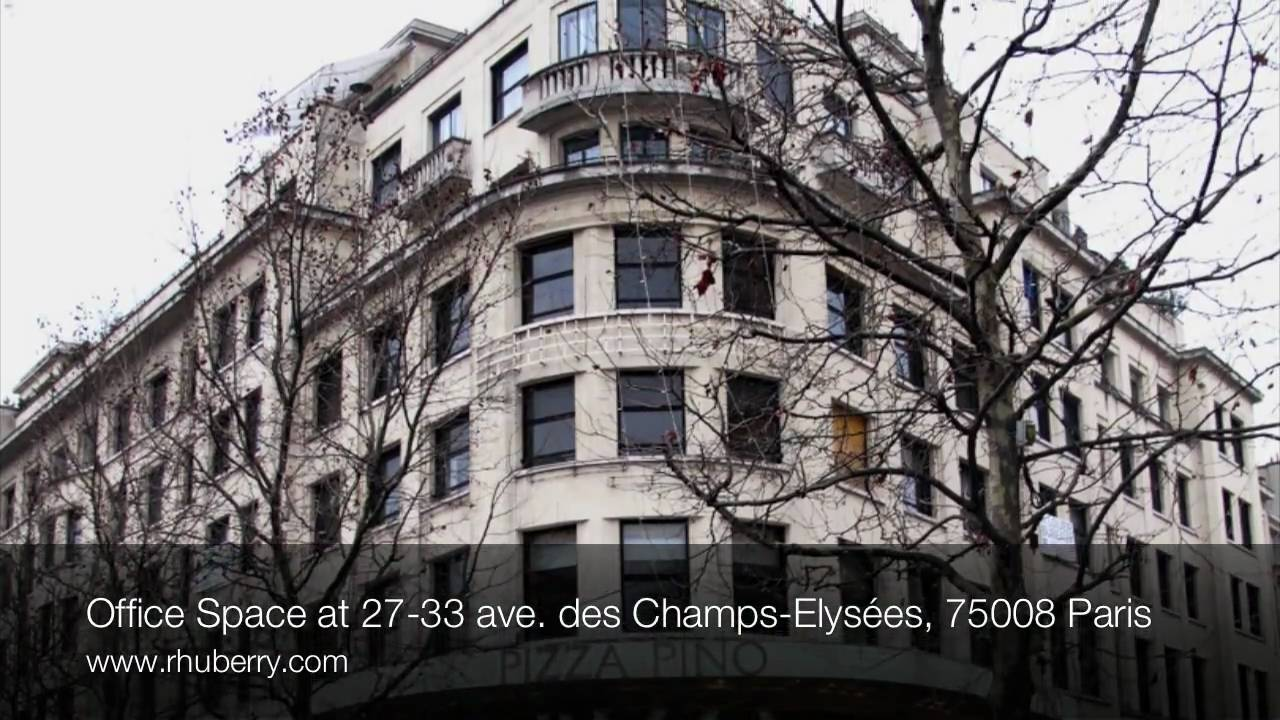 office space at 27 33 avenue des champs elys es 75008 paris youtube. Black Bedroom Furniture Sets. Home Design Ideas
