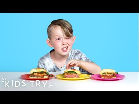 Kids Try Beyond and Impossible Burgers | Kids Try | HiHo Kids