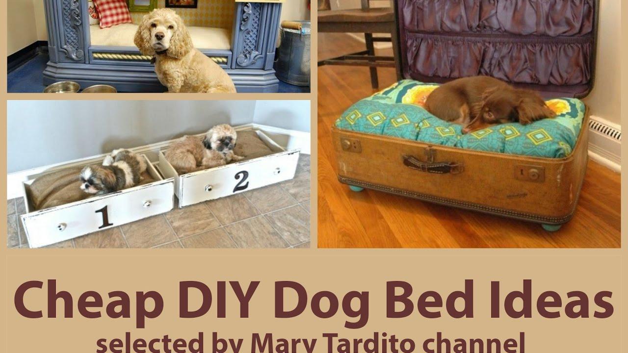 Cheap DIY Dog Bed Ideas - YouTube on Cheap Bed Ideas  id=84852