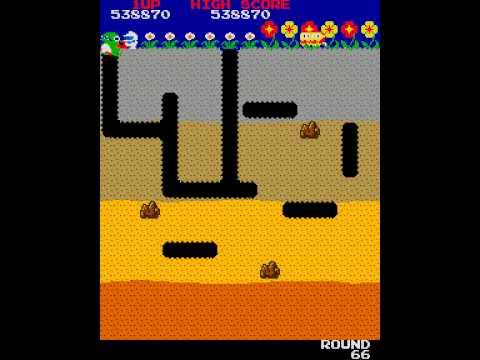 Arcade Game: Dig Dug (1982 Namco)