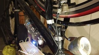 DIY Magnetic contactless bike dynamo TEST #2