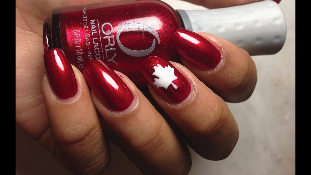 Easy Canada Day Nails With DIY Nail Decals - YouTube