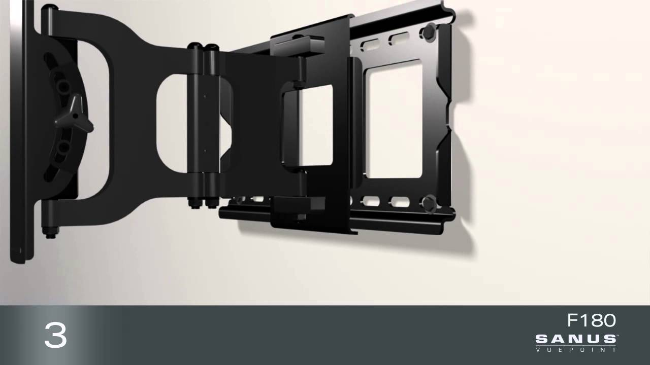How To Install Your Sanus Vuepoint F180 Tv Mount Youtube