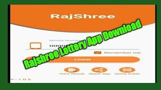 Rajshree Lottery App Download  2019