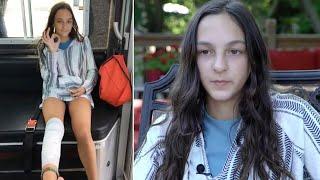 Video Brave 12-Year-Old Describes Moment Shark Bit Her Leg at New York Beach download MP3, 3GP, MP4, WEBM, AVI, FLV Juli 2018