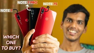 Redmi Note 7 Pro vs Redmi Note 7s vs Redmi Note 7! Which device to buy?