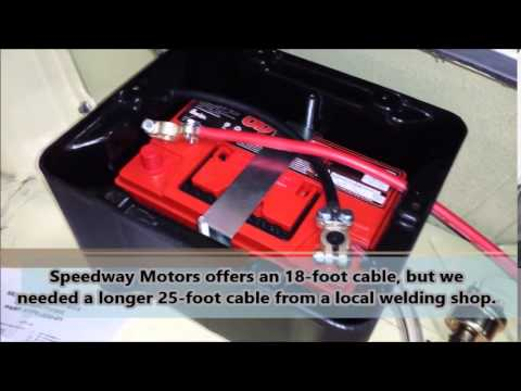 how to relocate a battery to the trunk youtube rh youtube com Honda 300 Battery Diagram Marine Battery Wiring Diagram