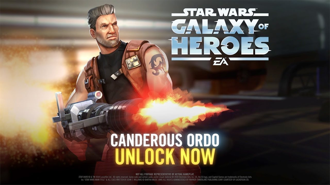 Star Wars Galaxy Of Heroes Best Characters 2020 Star Wars: Galaxy of Heroes   Canderous Ordo Has Arrived   YouTube