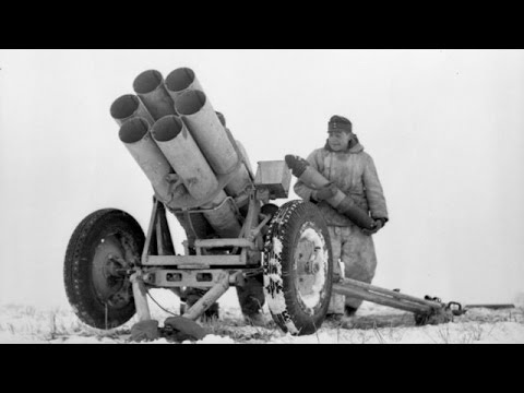 German Nebelwerfer rockets in action in WW2