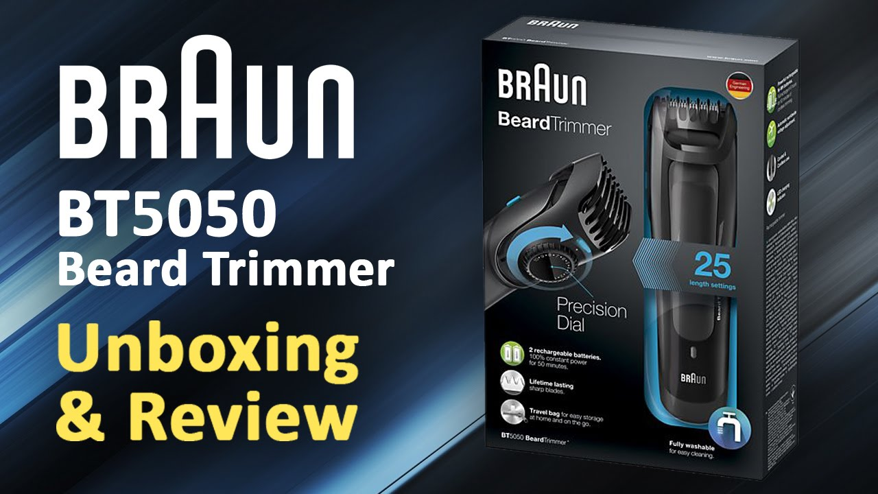 braun beard trimmer bt5050 unboxing review youtube. Black Bedroom Furniture Sets. Home Design Ideas