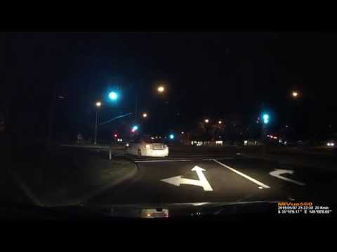 Dash Cam - Possibly Drunk/Confused Driver On Captain Cook Drive, Griffith, ACT